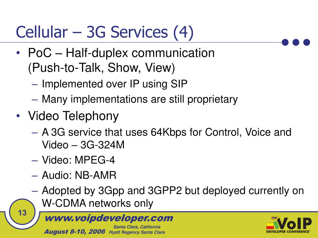 Cellular – 3G Services (4)