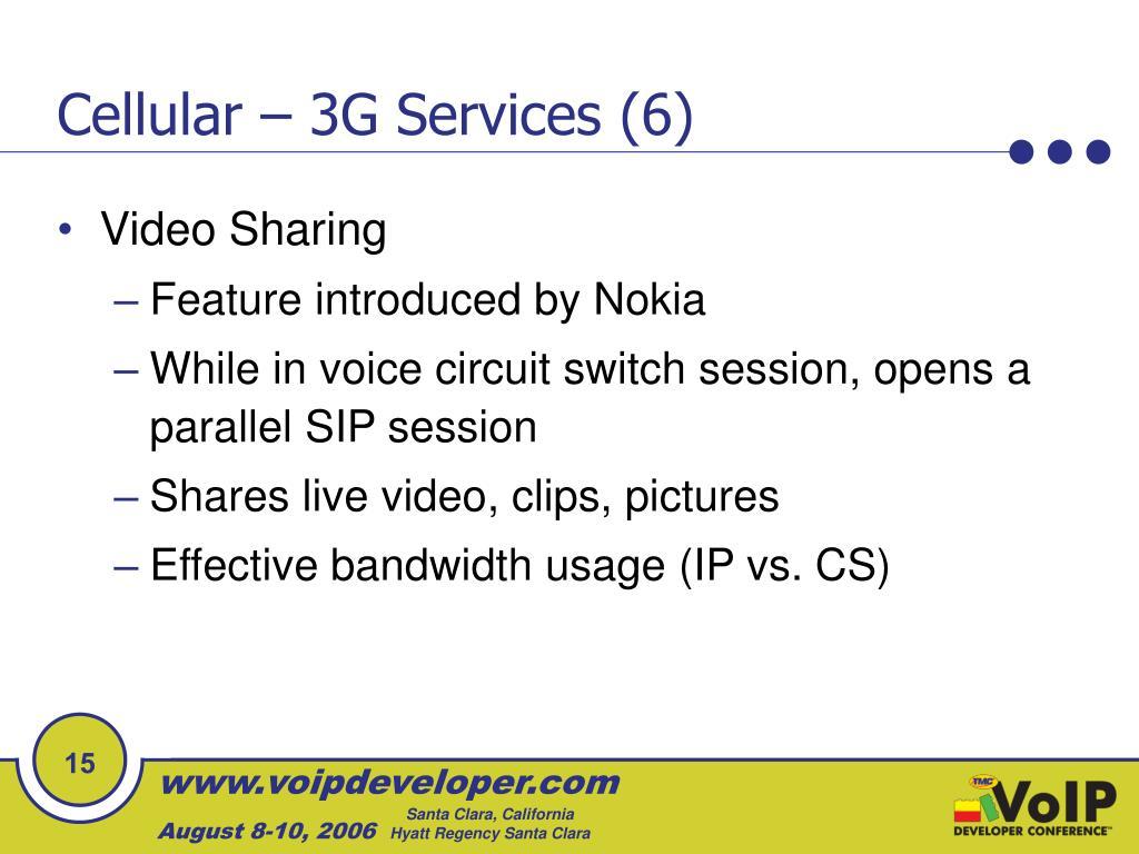 Cellular – 3G Services (6)