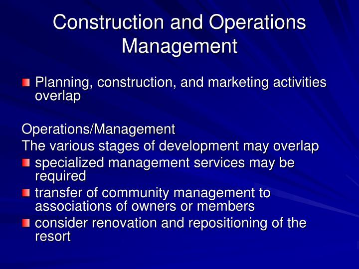 Construction and Operations Management