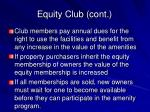 equity club cont