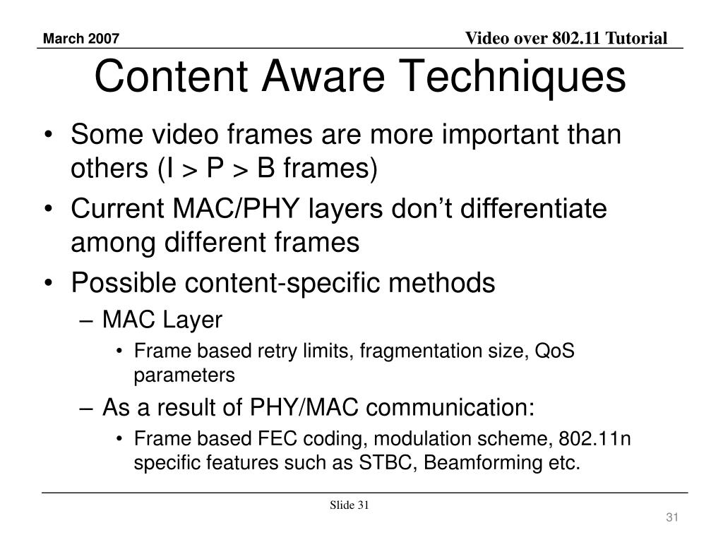Content Aware Techniques