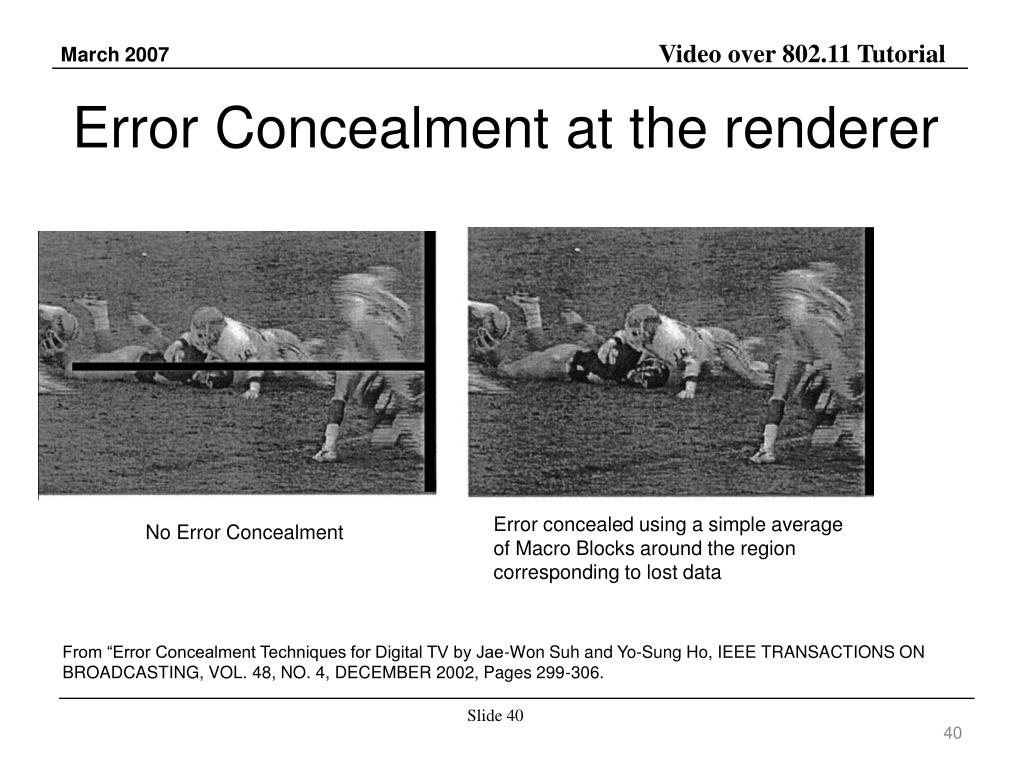 Error Concealment at the renderer