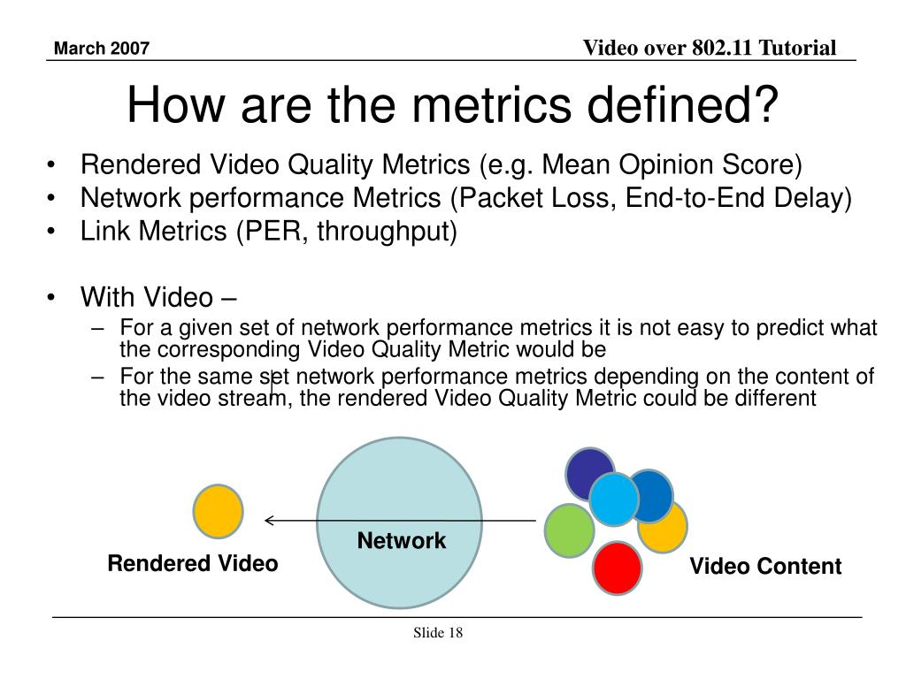 How are the metrics defined?