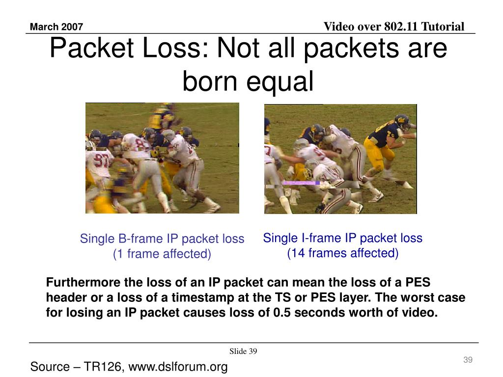 Packet Loss: Not all packets are born equal