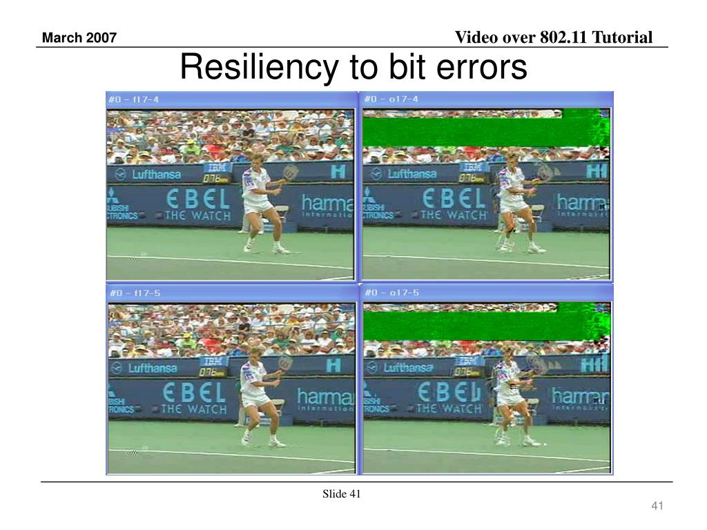 Resiliency to bit errors