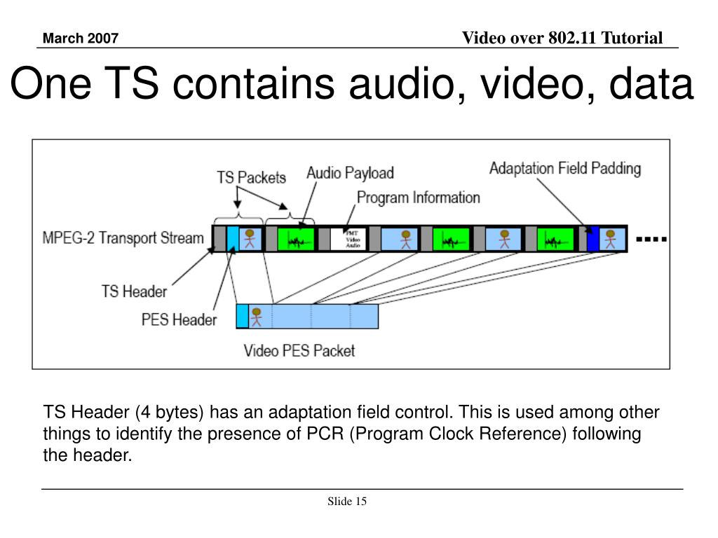One TS contains audio, video, data