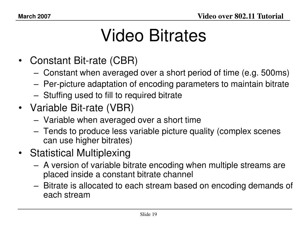 Video Bitrates
