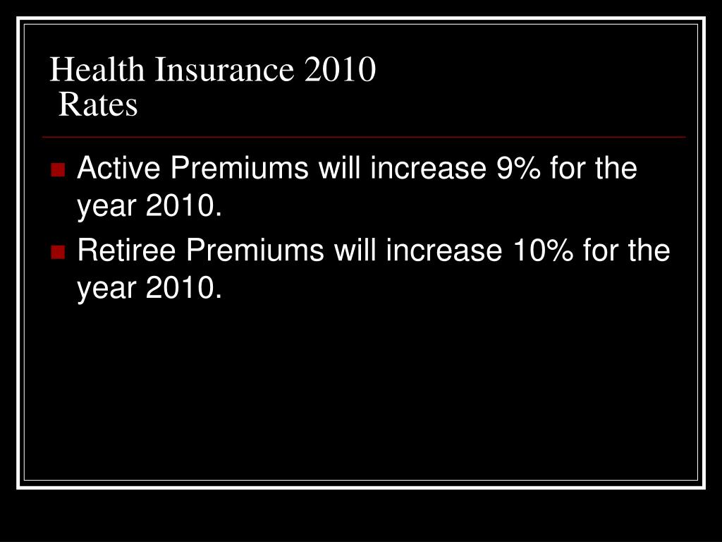 Health Insurance 2010