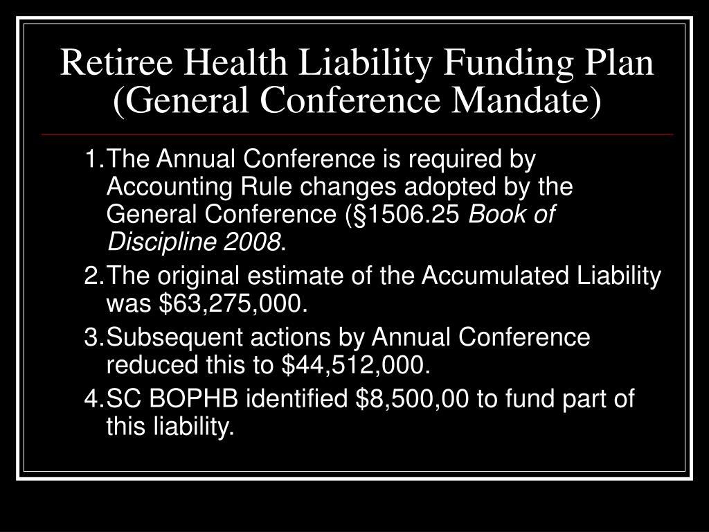 Retiree Health Liability Funding Plan