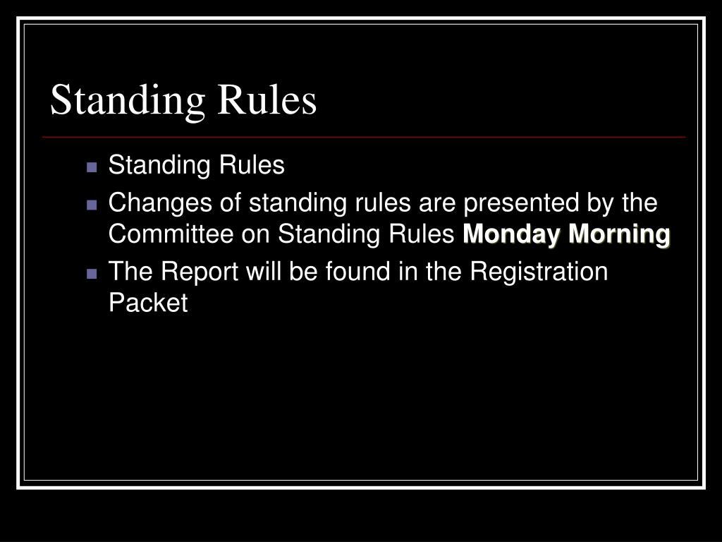 Standing Rules