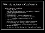 worship at annual conference