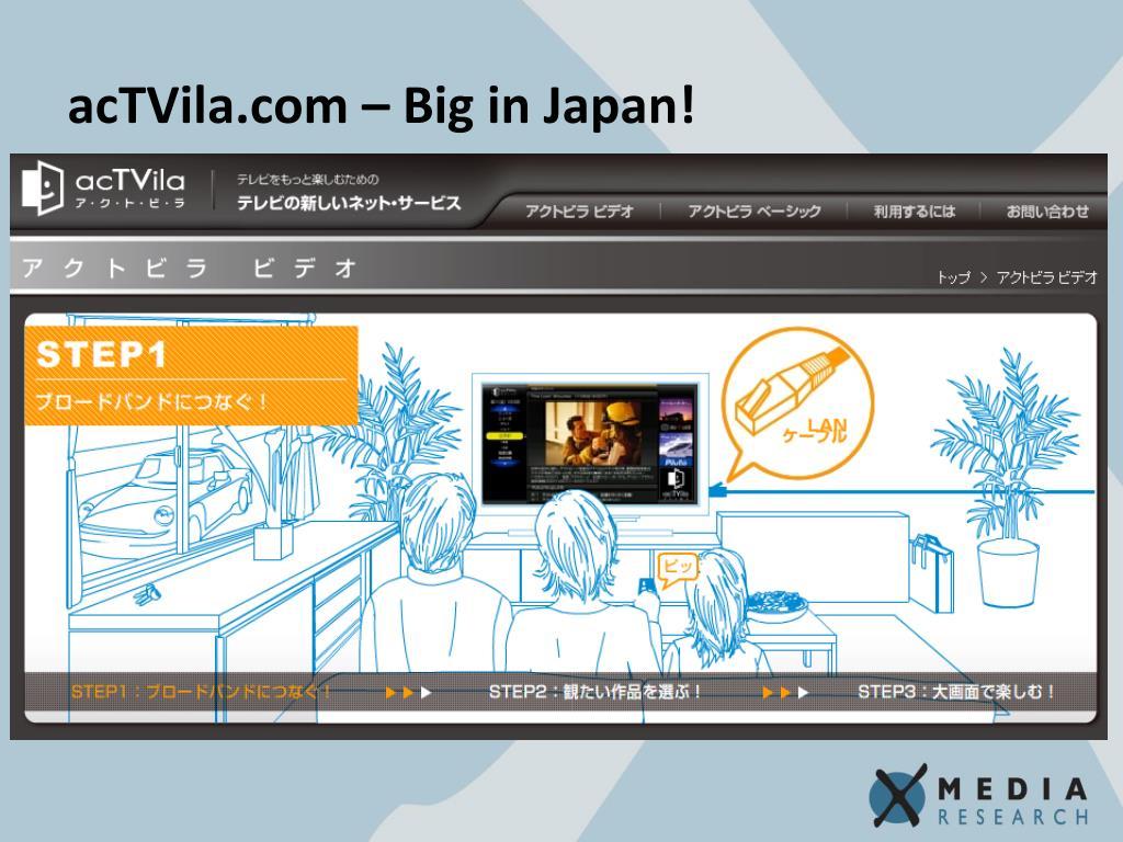 acTVila.com – Big in Japan!