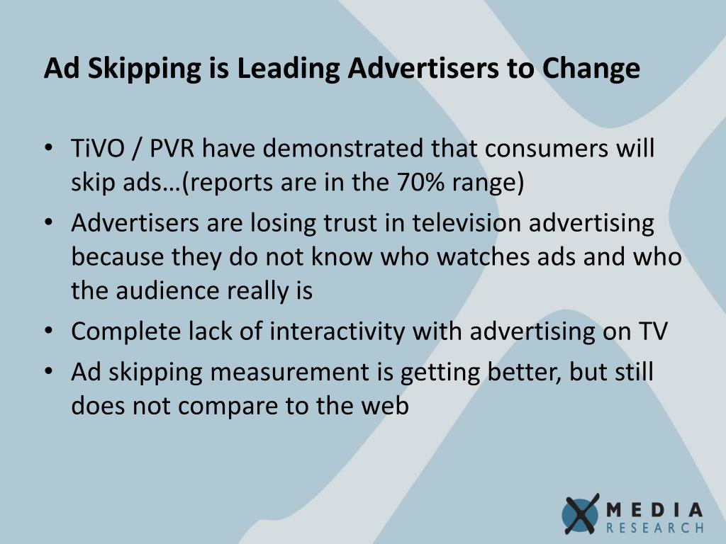 Ad Skipping is Leading Advertisers to Change