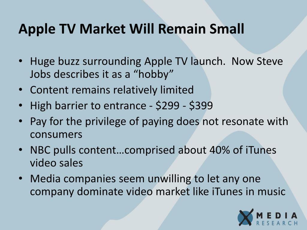 Apple TV Market Will Remain Small