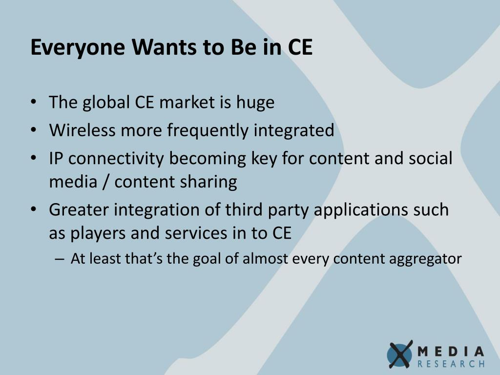 Everyone Wants to Be in CE