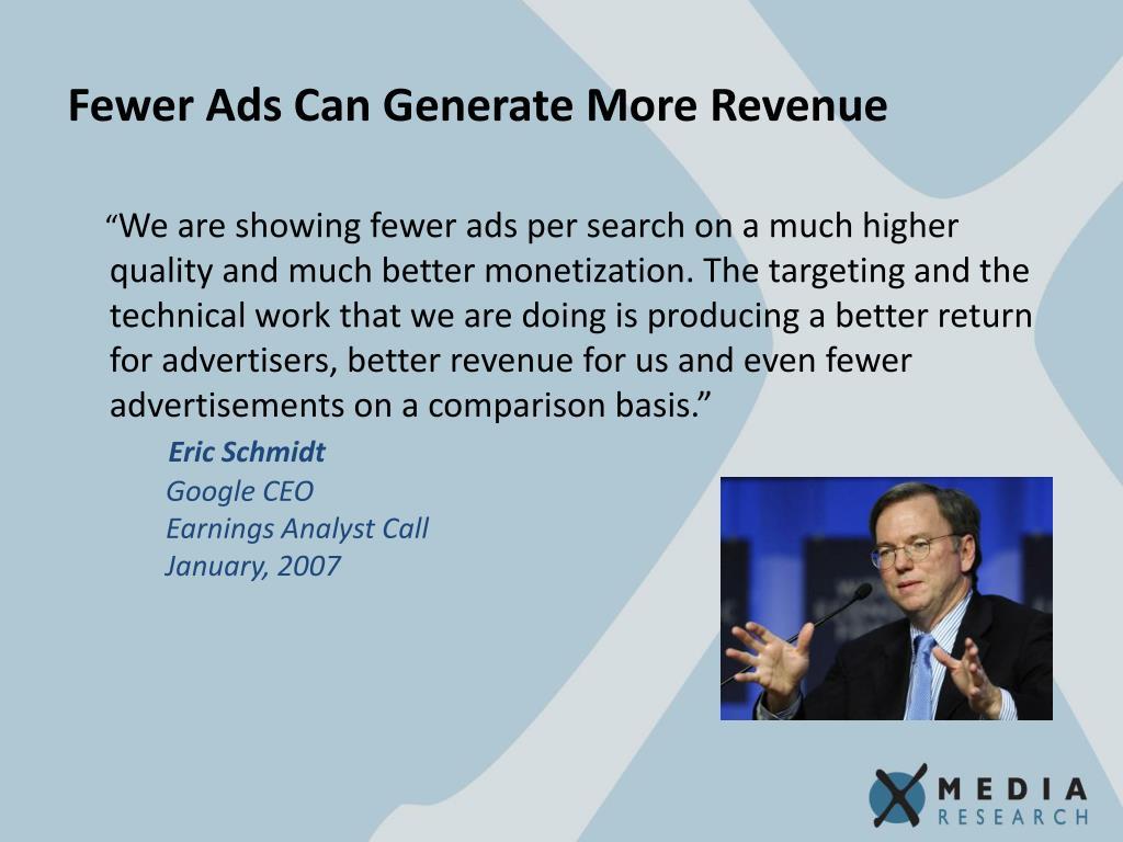 Fewer Ads Can Generate More Revenue