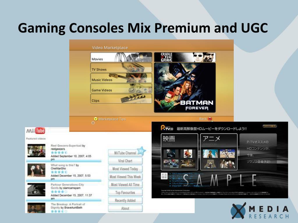Gaming Consoles Mix Premium and UGC