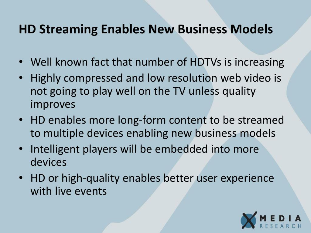 HD Streaming Enables New Business Models