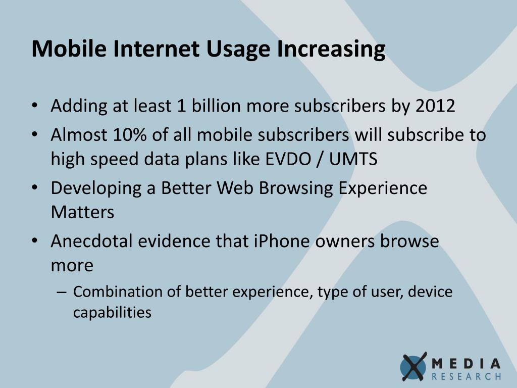Mobile Internet Usage Increasing