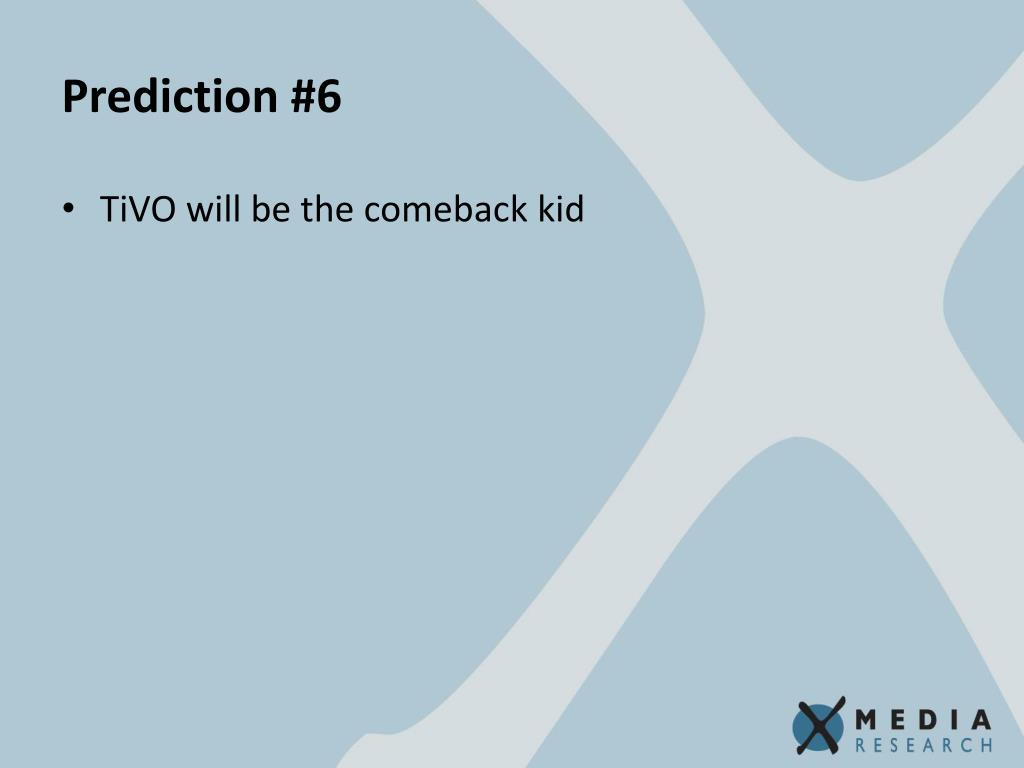Prediction #6