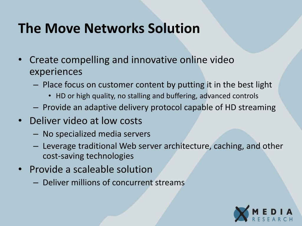 The Move Networks Solution