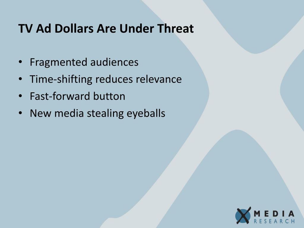 TV Ad Dollars Are Under Threat