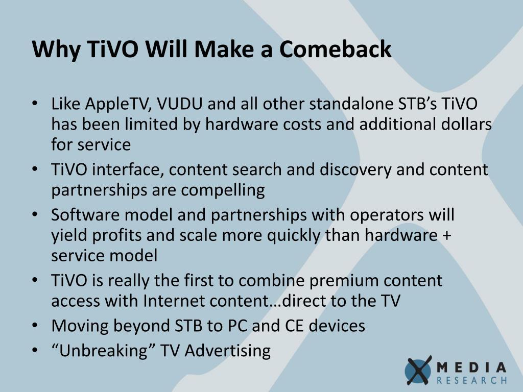Why TiVO Will Make a Comeback