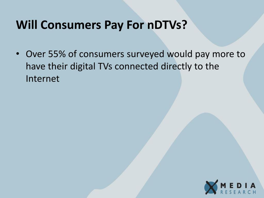 Will Consumers Pay For nDTVs?
