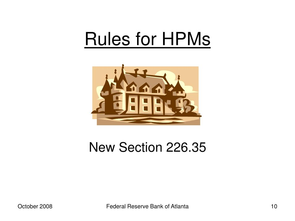 Rules for HPMs