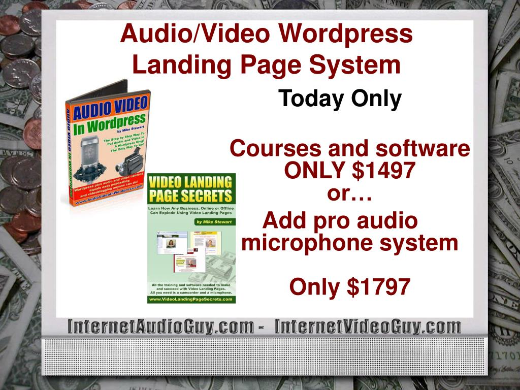 Audio/Video Wordpress Landing Page System