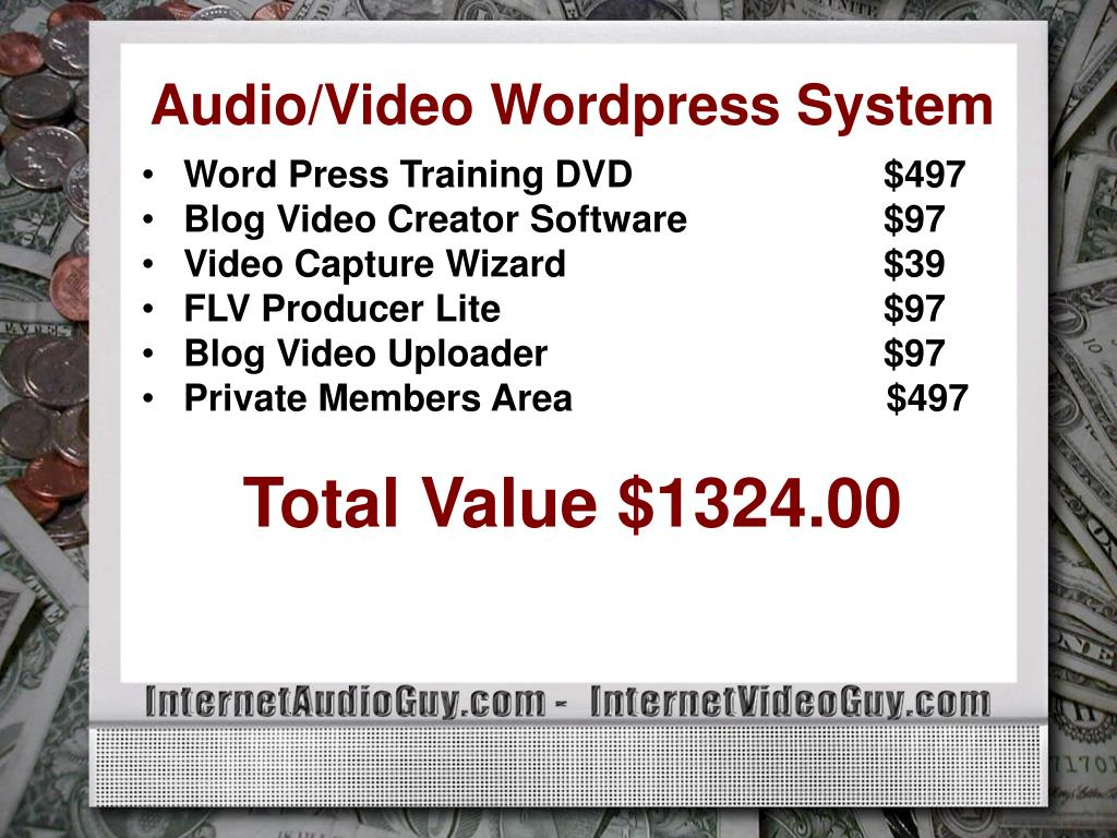 Audio/Video Wordpress System
