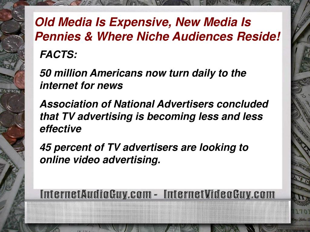 Old Media Is Expensive, New Media Is