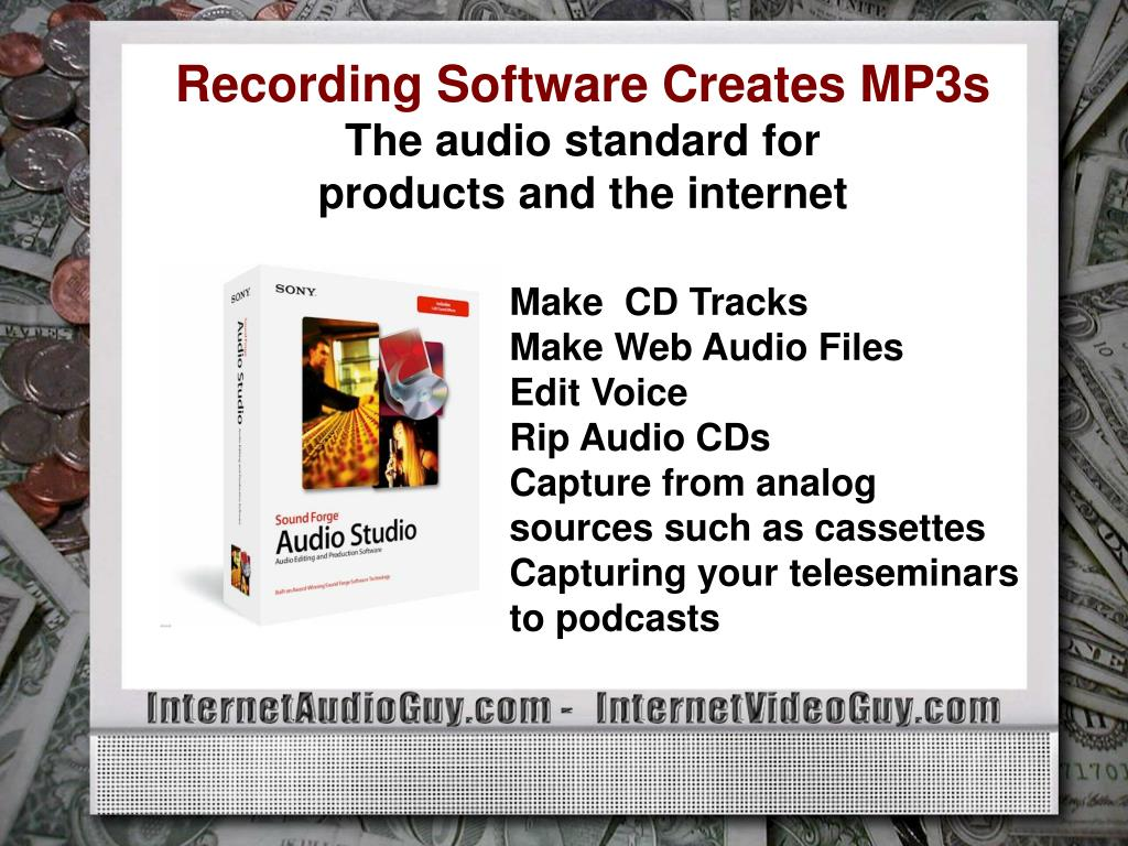 Recording Software Creates MP3s
