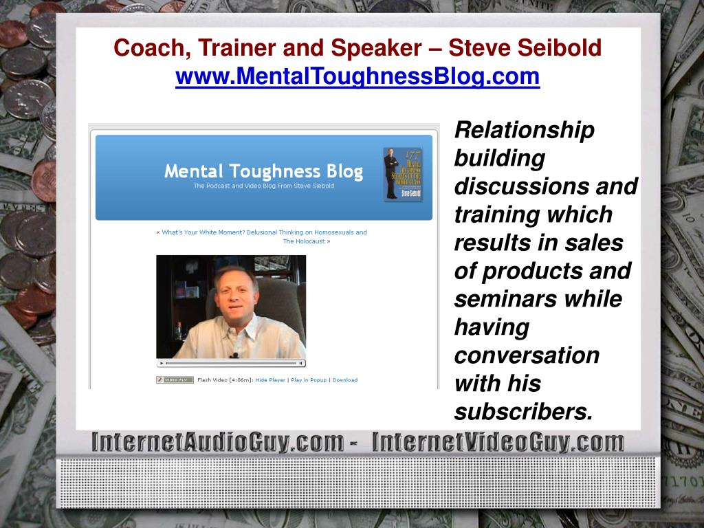 Coach, Trainer and Speaker – Steve Seibold