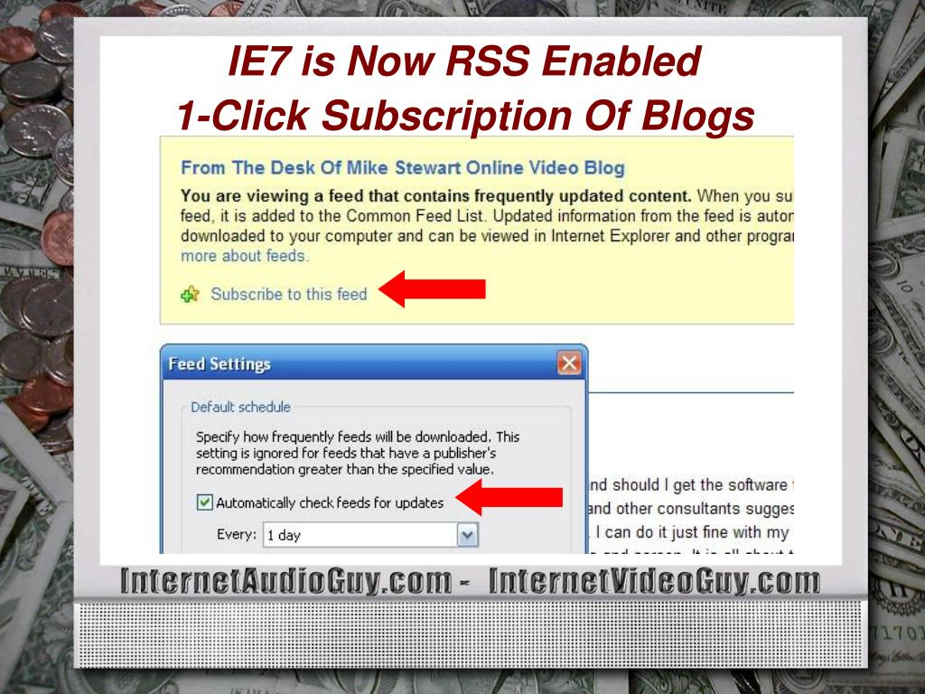 IE7 is Now RSS Enabled