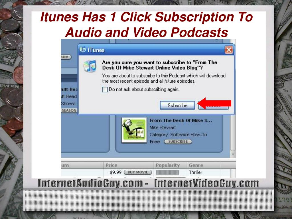 Itunes Has 1 Click Subscription To