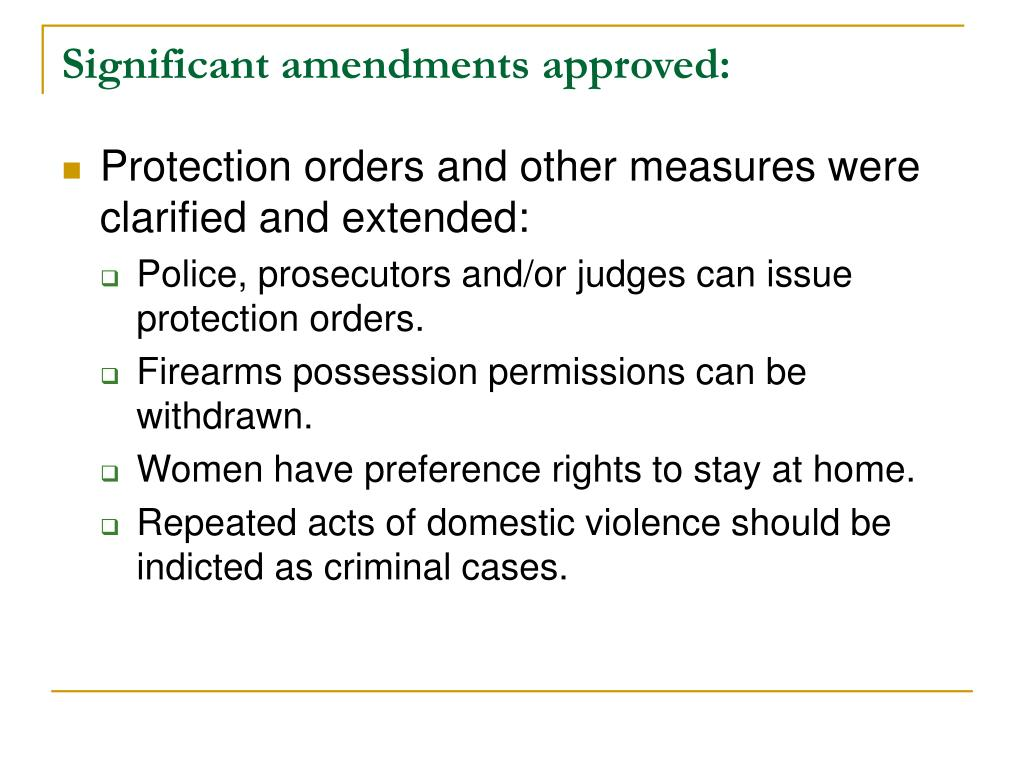 Significant amendments approved: