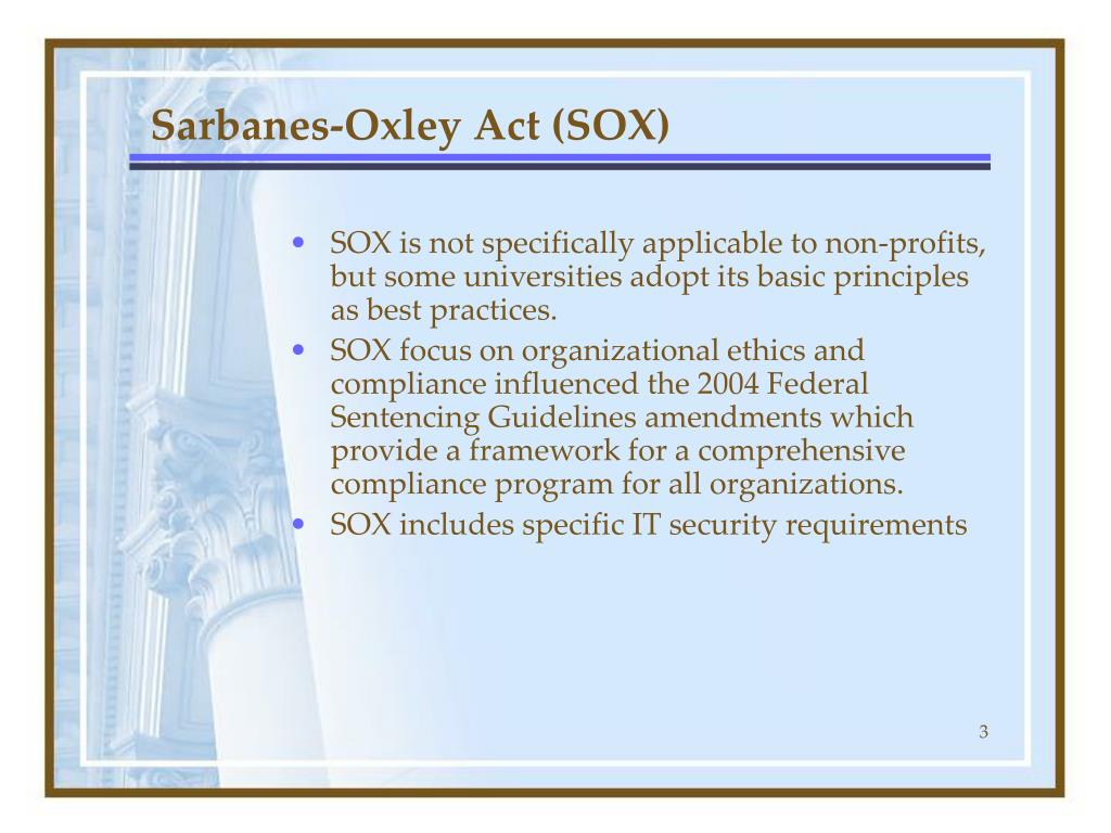 Sarbanes-Oxley Act (SOX)