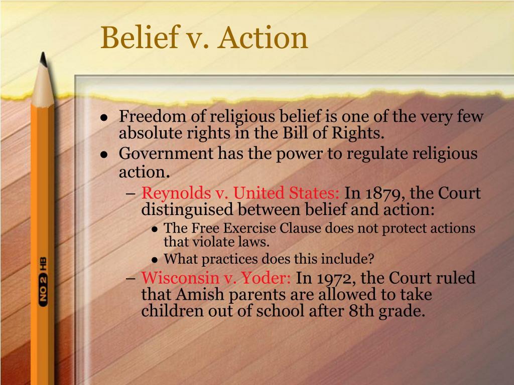 Belief v. Action