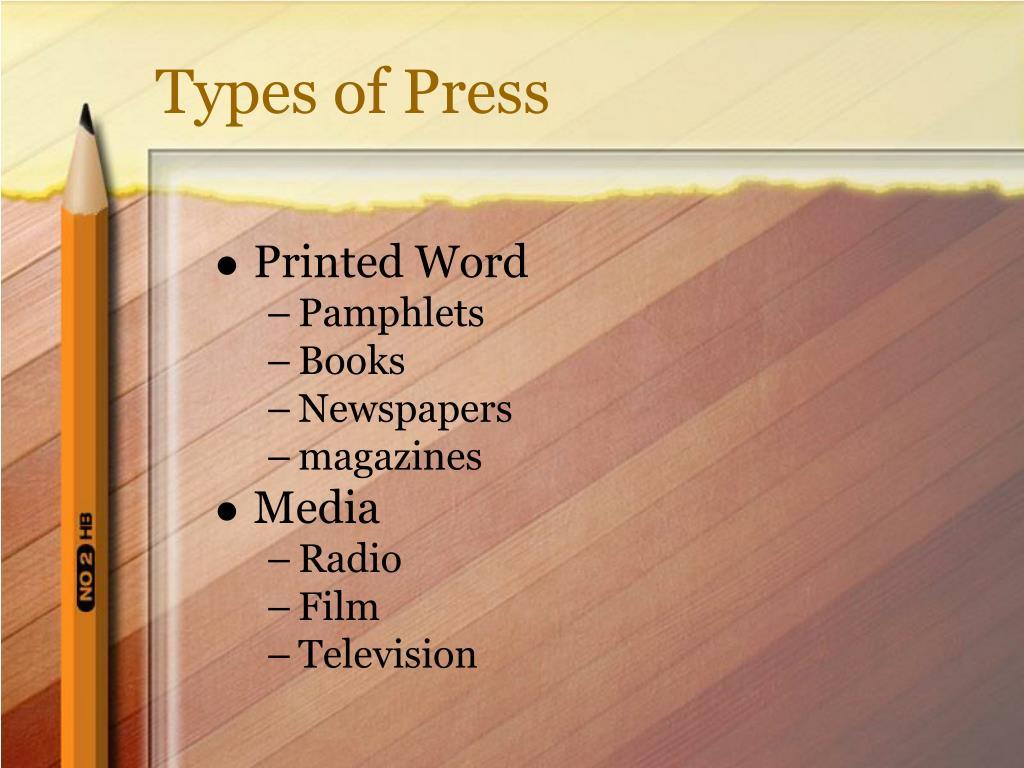 Types of Press