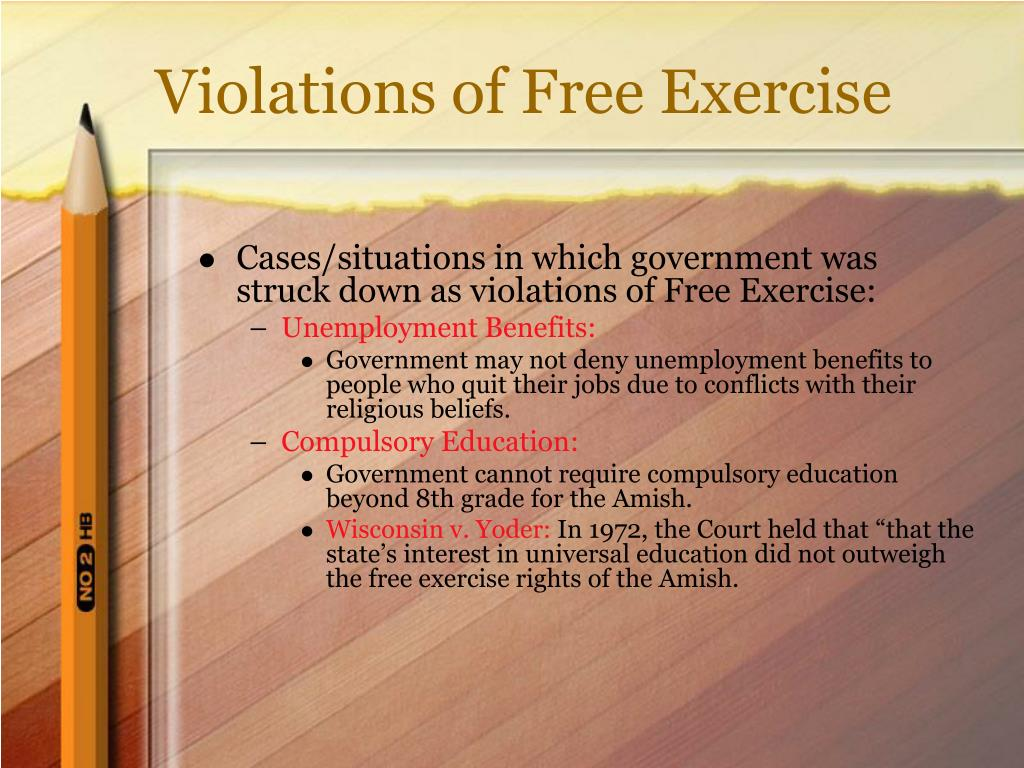 Violations of Free Exercise