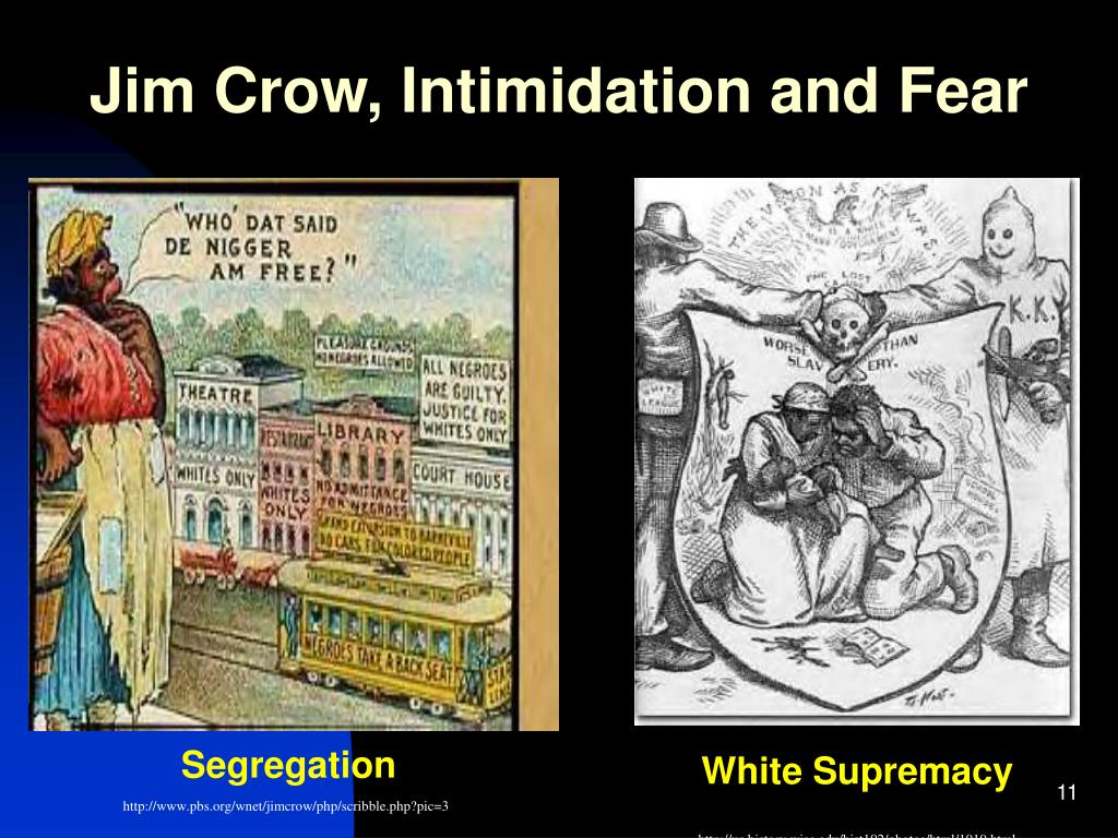 Jim Crow, Intimidation and Fear