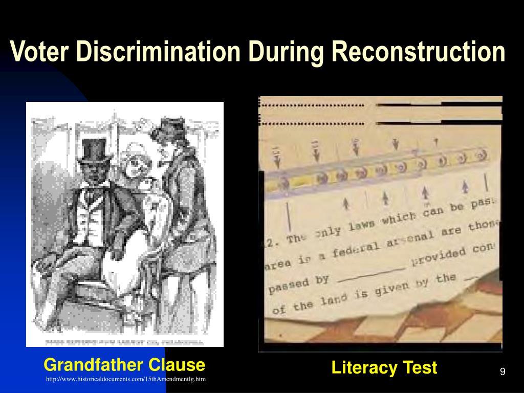 Voter Discrimination During Reconstruction