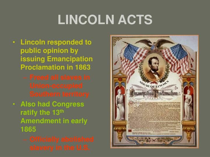 LINCOLN ACTS