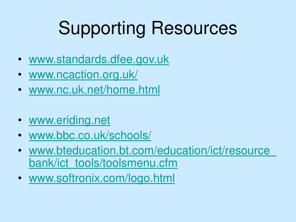 Supporting Resources