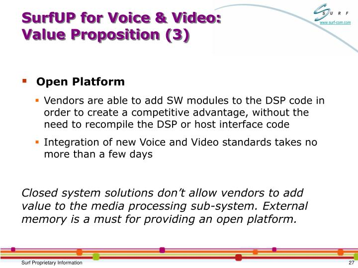 SurfUP for Voice & Video: