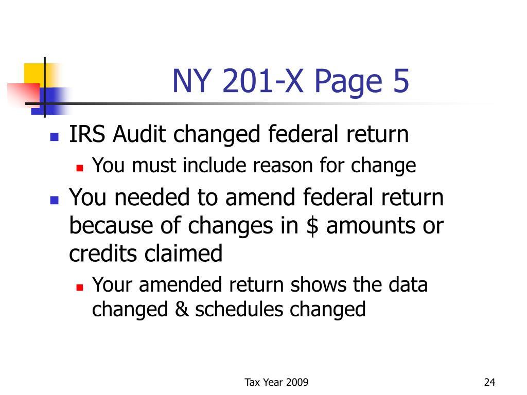 NY 201-X Page 5