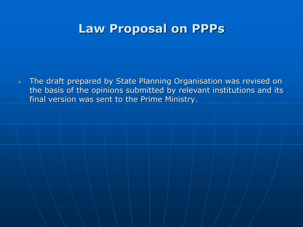 Law Proposal on PPPs