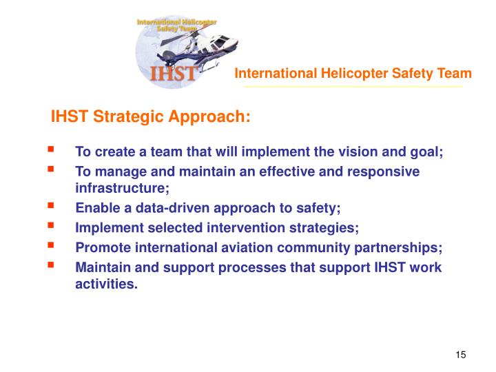 International Helicopter Safety Team