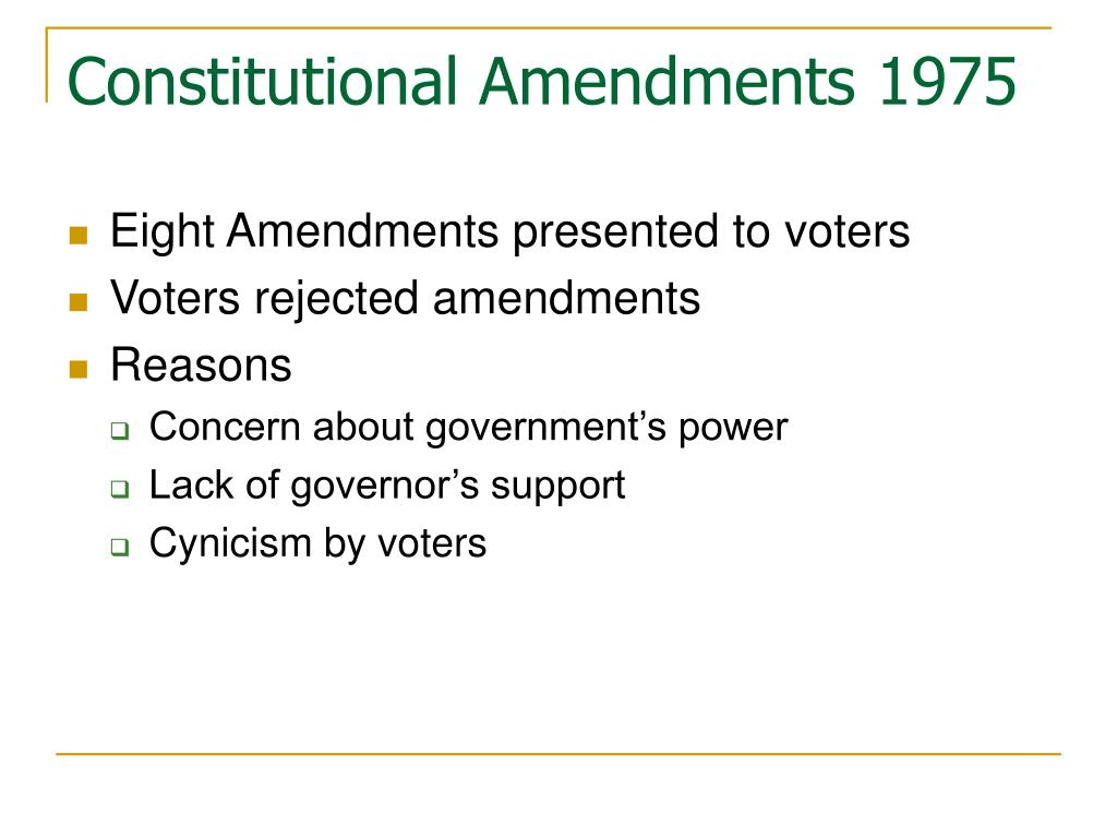 Constitutional Amendments 1975